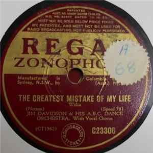 Jim Davidson & His A.B.C. Dance Orchestra - The Greatest Mistake Of My Life / My Cabin Of Dreams Album